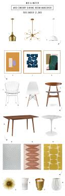 MIX & MATCH: INEXPENSIVE MID CENTURY MODERN FURNITURE - Sugar & Cloth 10 Style Tips For Pulling Off A Mix Match Ding Set Apartment Fniture Styles Modern Traditional Zin Home Bar Kitchen Crate And Barrel Easy Ways To Patterns In Your Freshecom 7 Piece Table 6 Chairs Glass Metal Room Black Sterdam Modern Mix And Match School Chairs Workspaces Diy Mixing Wood Tones Need Living Makeover Successfully How Mix Match Pillows To With Your Bedroom Pop Talk Swatchpop