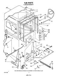 DU6000XR1 Dishwasher Tub Parts Diagram
