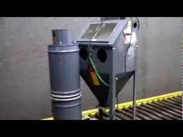 trinity tool company trinco dry blast abrasion unit on
