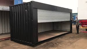 100 Shipping Containers Converted 20ft Container Roller Shutter Conversion YouTube