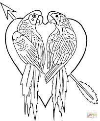 Click The Parrots In Love Coloring Pages To View Printable