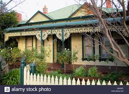 100 Melbourne Victorian Houses House Yarraville Stock Photos