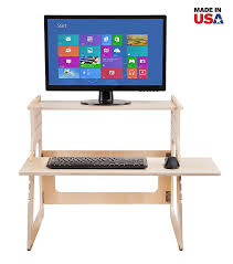 Stand Up Desk Conversion Kit Ikea by Amazon Com Well Desk Adjustable Standing Desk Riser Simple And
