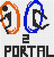 Halloween Perler Bead Projects by Portal 2 Perler Bead Pattern Bead Sprites Misc Fuse Bead