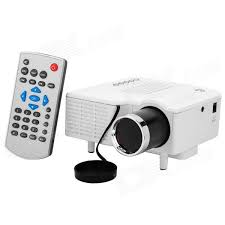 UC28 LED HD Home Projector Supports HDMI Smart Phone PC White