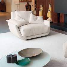 100 Contemporary Armchair Armchair Fabric Leather Swivel TULISS By Jai