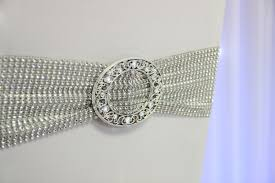 Wedding Chair Sash Buckles by Stretch Silver Chair Band U0026 Buckle Beyond Expectations Weddings