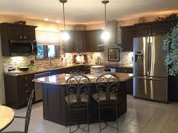 Pleasant Espresso Kitchen Cabinets In Interior Decor Home With