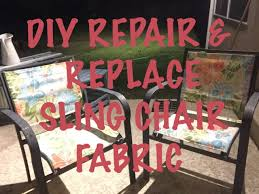 Replacement Vinyl Straps For Patio Chairs by Diy Replacing The Fabric On The Outdoor Sling Style Chair Youtube