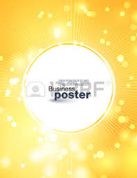 Stylish Yellow Orange Poster With A Button In The Middle Design Layout Template