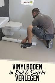 vinylboden in bad und dusche problemlos verlegen in 2020