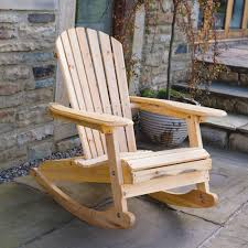 Bowland Adirondack Wooden Rocking Chair For Garden Or Patio