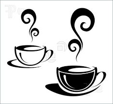 Coffee Cup Black White Clipart