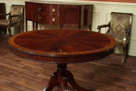 Captain Chairs For Dining Room Table by 48 Round Dining Table With Leaf Round Mahogany Dining Table