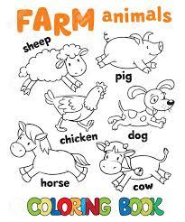 Libro Para Colorear Con Animales De Granja Divertida Del Bebé