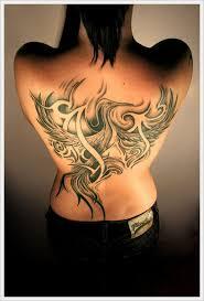 Tribal Back Tattoos Female For Girl