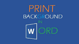How To Print Background Color In Microsoft Word 720p HD