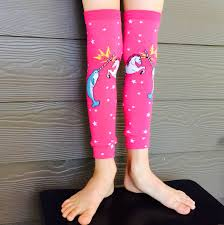 narwhal vs unicorn leg warmers for boys and girls leggings