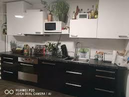 verkauft ikea küche mit geräten schwarz wiess hochglanz