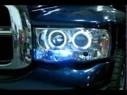 spec d halo projector headlights leds dodge ram 2002 2005