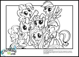 My Little Pony Coloring Book Pages Free Ponyville