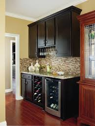 Best Floor For Kitchen by Furniture Black Aristokraft Cabinets With Tile Back Splash Plus