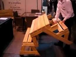 the folding table garden bench which converts to a picnic table
