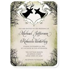 Rustic Deer Frame Canvas Wedding Invitations At Artistically Invited