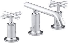 Kohler Bathroom Sink Faucets Widespread by Kohler Purist Widespread Bathroom Sink Faucet With Low Cross