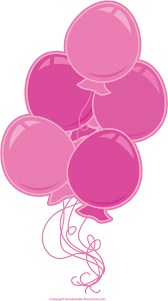 Pink Birthday Balloons Clipart 346