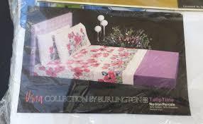 Burlington Coat Factory Sheer Curtains by Vtg Vera Collection Burlington Full Flat Sheet Nip Tulip Time