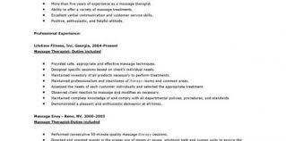 Resume For Massage Therapist