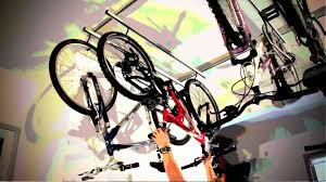 Ceiling Bike Rack Canadian Tire by Cycleglide Installation Youtube