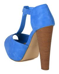 new women breckelles brina 21 pu peep toe t strap platform chunky