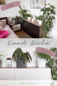 kommode streichen schlafzimmer makeover teil 1