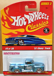100 52 Chevy Truck HOT WHEELS CLASSICS SERIES 3 CHEVY TRUCK 630 TURQUOISE