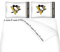 Pittsburgh Penguins Pumpkin Stencil Free by Amazon Com Nhl Pittsburgh Penguins 5pc Bed In A Bag Queen
