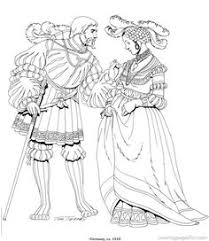 Renaissance Costumes And Clothing Coloring Pages 24
