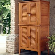 Teak Outdoor Buffet With Storage Androof Towel Cabinet Outdoor