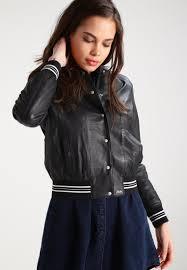 oakwood leather jacket gris fonce women clothing jackets w