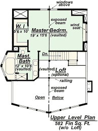 C Floor Plans by Chalet Model C 510 Floor Plan From Creative House Plans