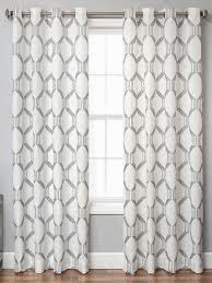 108 Inch Blackout Curtains by Buy Brach Geometric Applique Sheer Curtain Panel White 108 Inch In