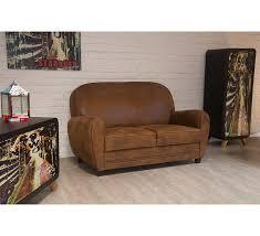 canap simili cuir 2 places canapé 2 places imitation vieux cuir marron 4463