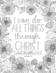 Just What I In All Things Through Christ Coloring Page