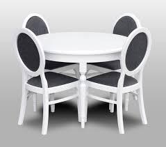 klassischer rund runder tisch holz design tische esszimmer 4 stühle konferenz