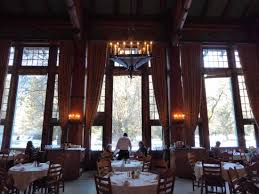 breakfast in the beautiful ahwahnee dining room stunning view