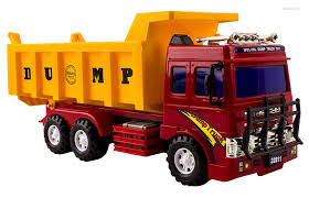 Buy WolVol Friction Powered Big Dump Truck Toy For Boys Online At ...