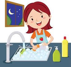 Royalty Free Washing Dishes Clip Art