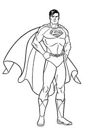 Strong Superman Picture Coloring Pages For Kids Printable