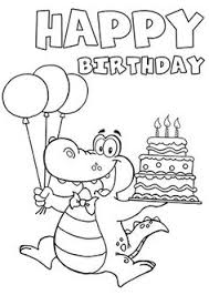 happy birthday clip art black and white 4